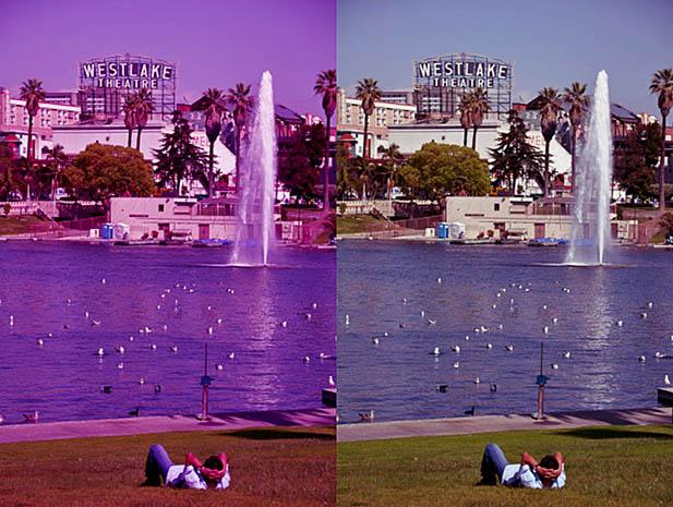 Устраняем нежелательный цветовой оттенок с помощью Average Blur. До и после.