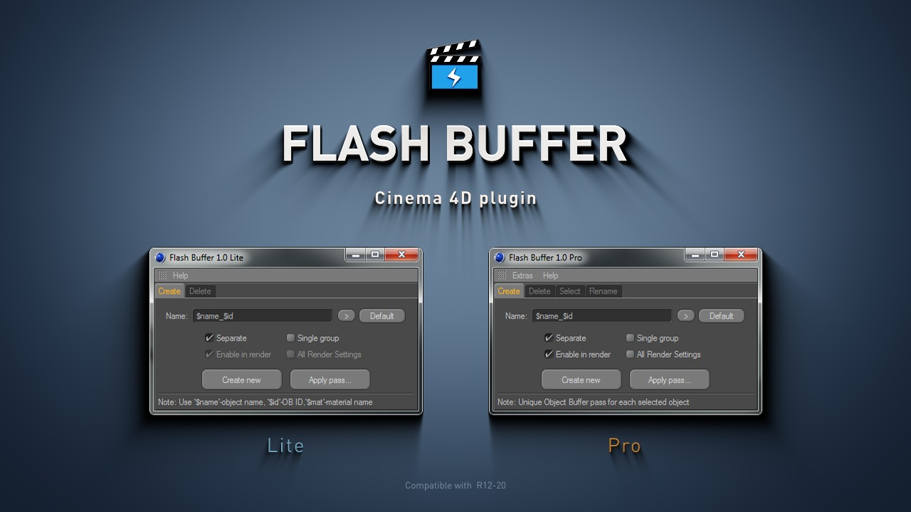 Flash Buffer v1 0  Cinema 4D Object Buffers manager – Mike Udin Tools