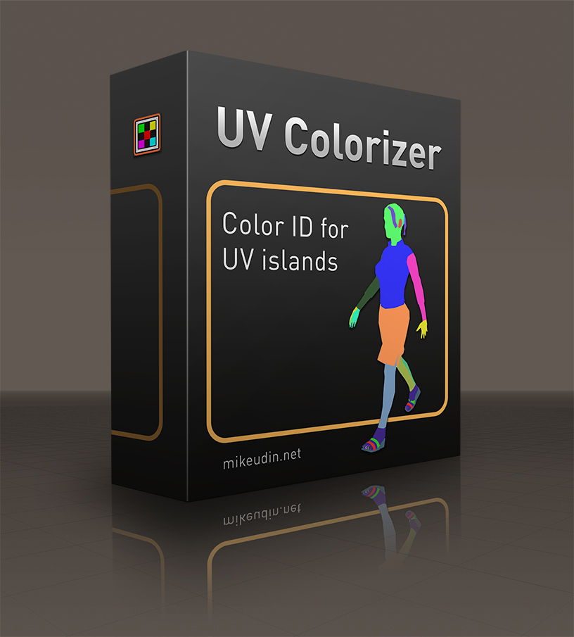 Cinema 4D Python script helps to create Color IDs for UV islands.