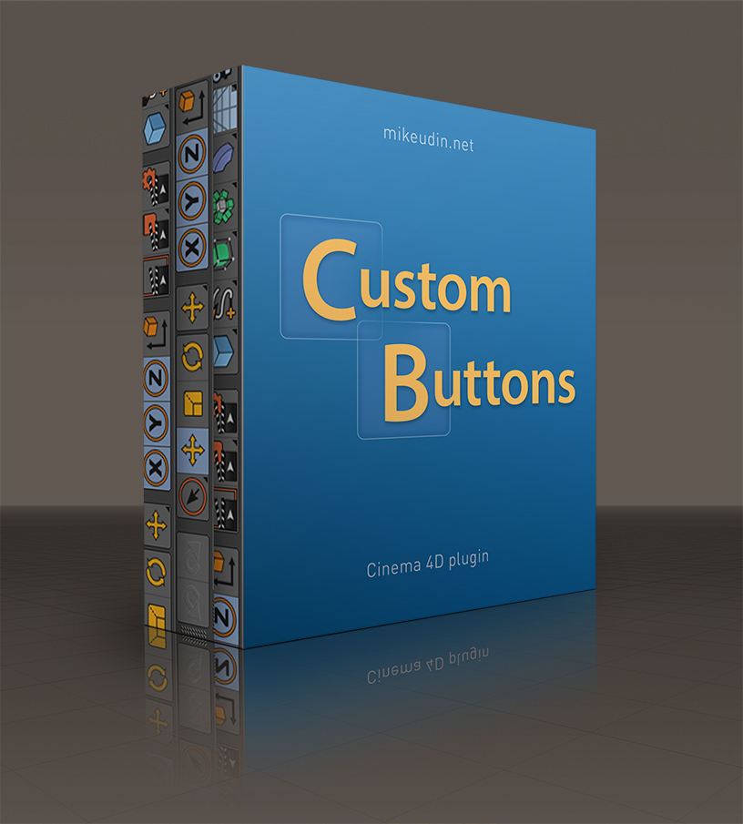 Custom Buttons plugin for Cinema 4D
