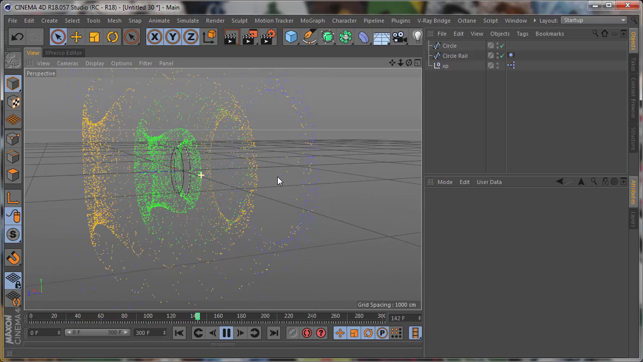 Cinema 4D XPresso: Thinking Particles