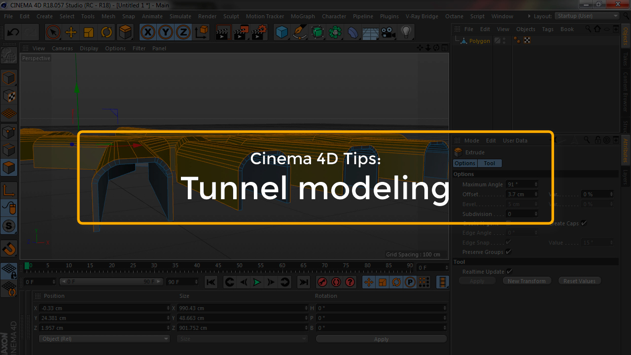 Some Cinema 4D Tips on how to model tunnels