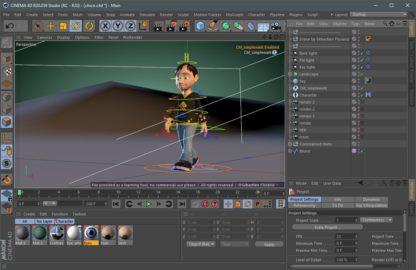 Model animated in Cinema 4D