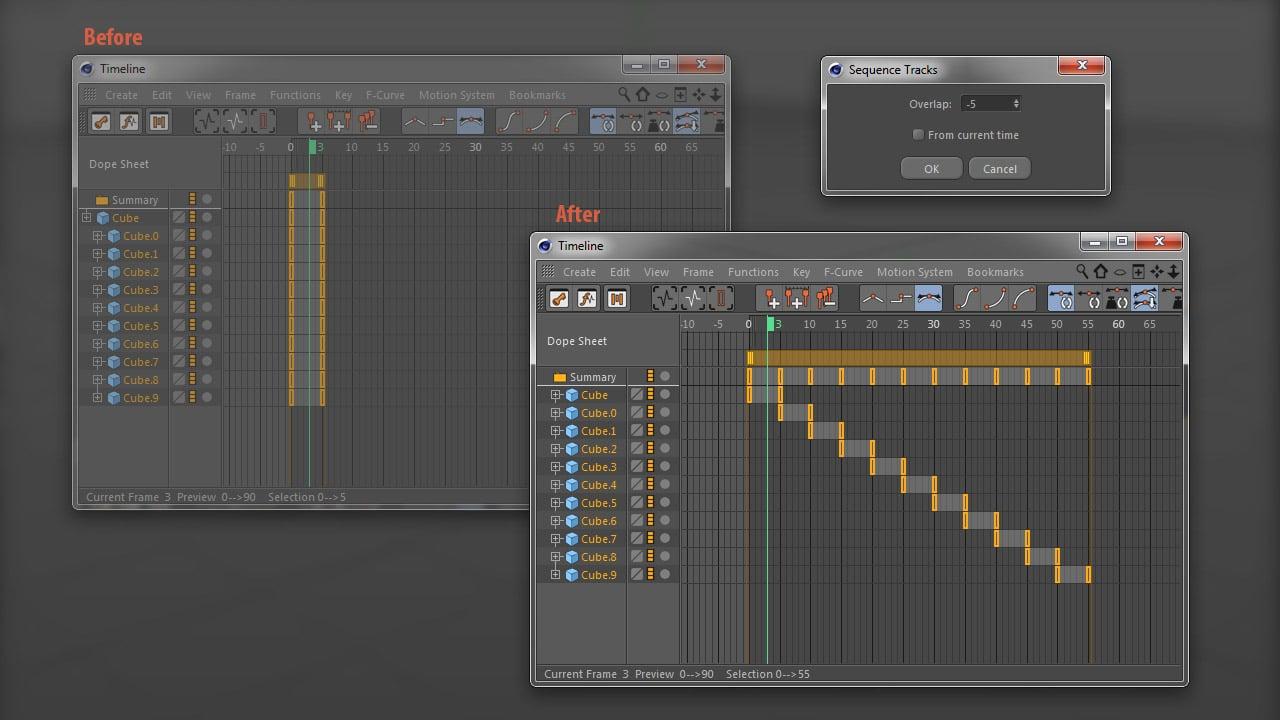 Cinema 4D Script Sequence Tracks