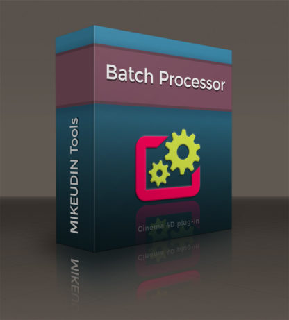 Batch Processor for Cinema 4D