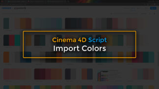 Import Colors to Cinema 4D
