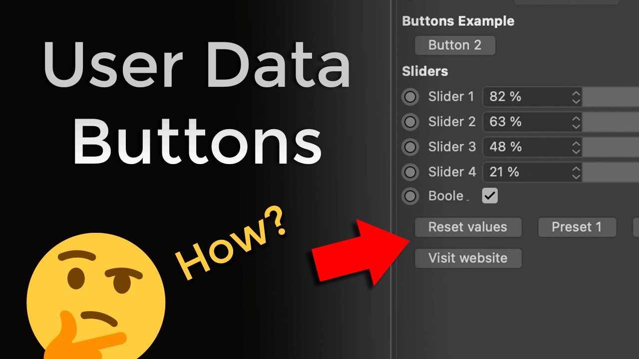 Cinema 4D Xpresso User Data Buttons