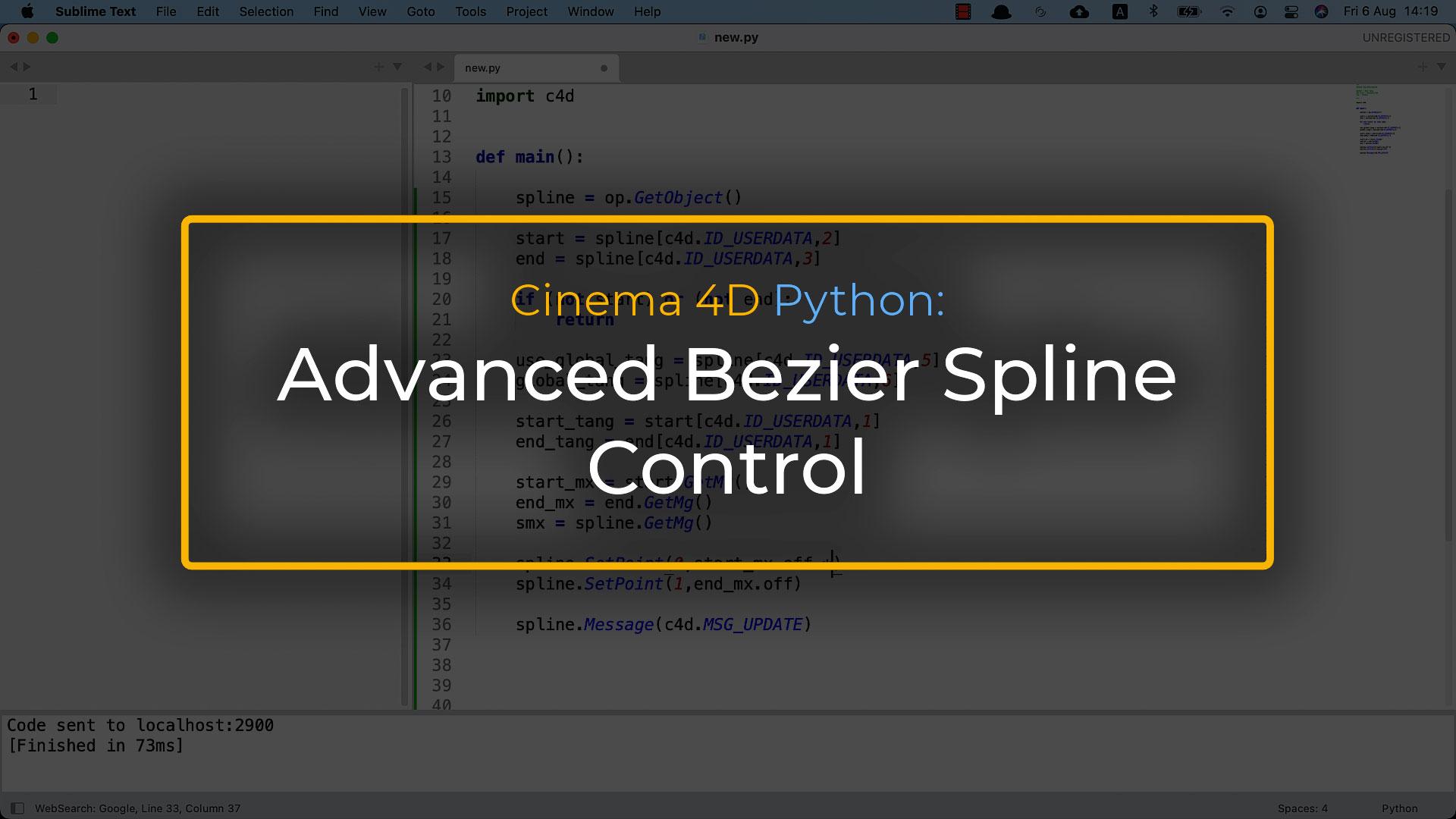 Control in Cinema 4D Besier Spline With Python Tag